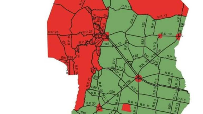 Zonas de cacería de la Provincia de Córdoba 2018
