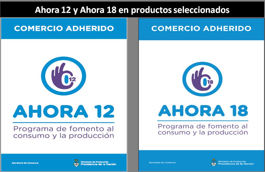 Ahora 12 y Ahora 18 en productos seleccionados