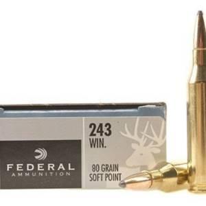balas federal 243win 80gr soft point